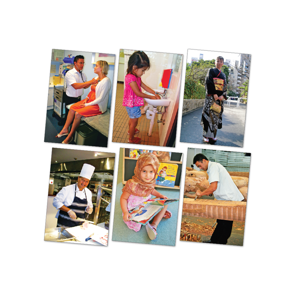 Multicultural People Poster Kit