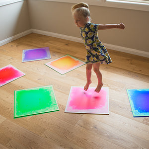 Sensory Liquid Colour Floor Tiles Set of 6