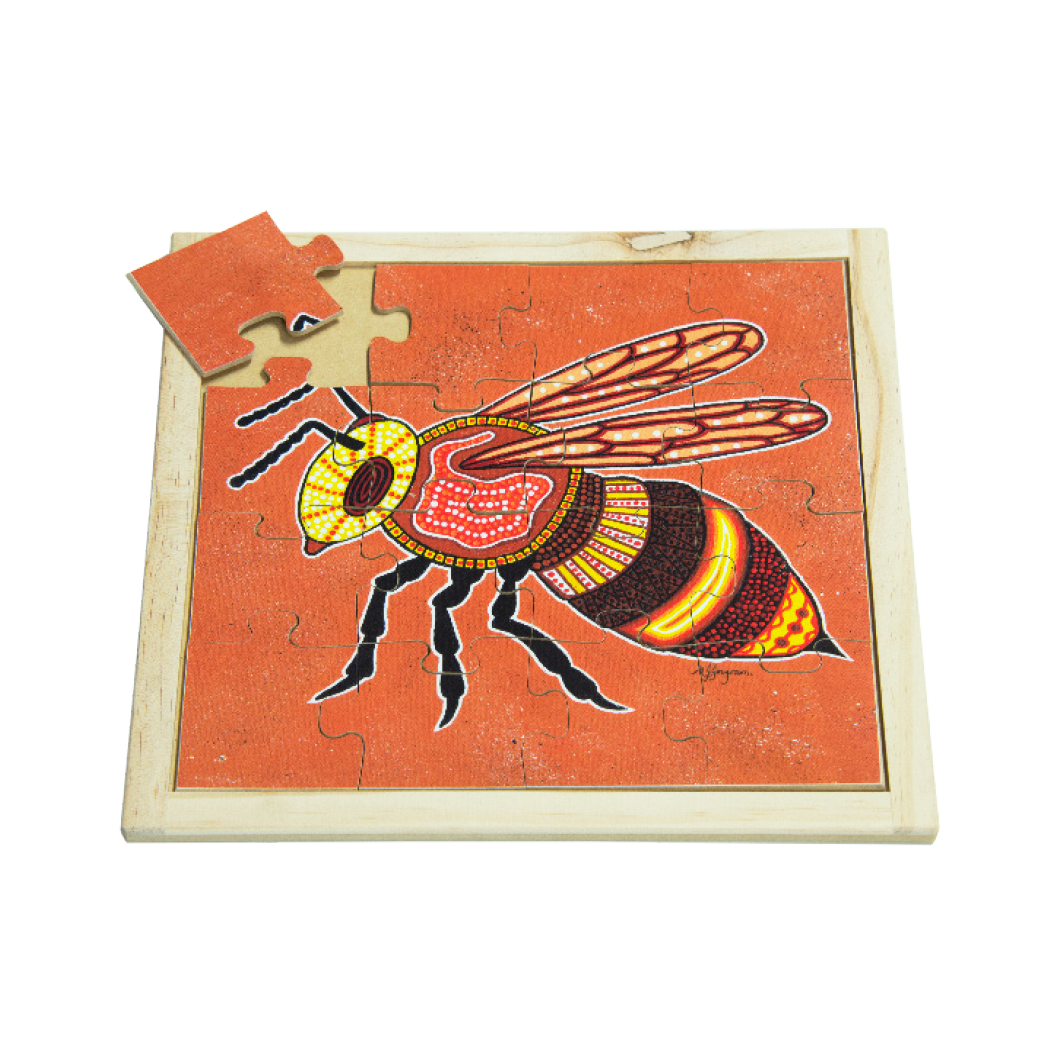 Aboriginal Bee Square Puzzle