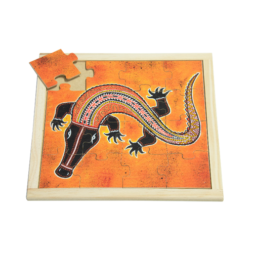 Aboriginal Crocodile Square Puzzle