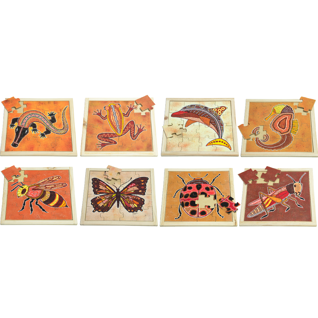 Square Creatures Puzzle Set with FREE Posters