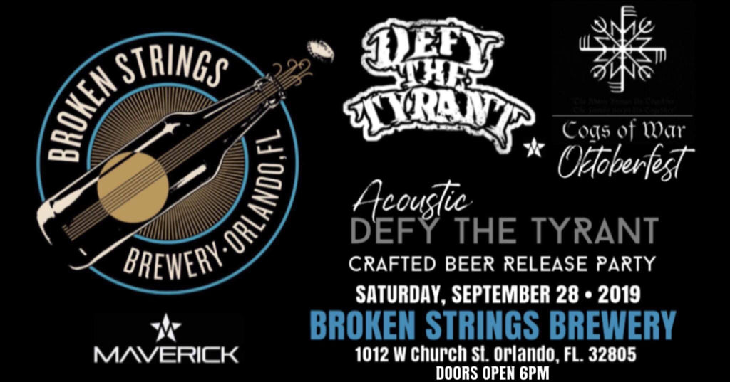 Maverick Announces 3rd Beer Release & Acoustic Show with Defy The Tyrant