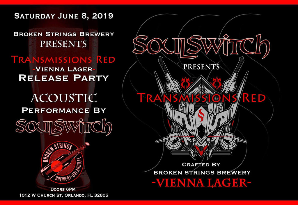 SoulSwitch Partners with Orlando Brewery Broken Strings Brewey for Beer Release & Acoustic Set