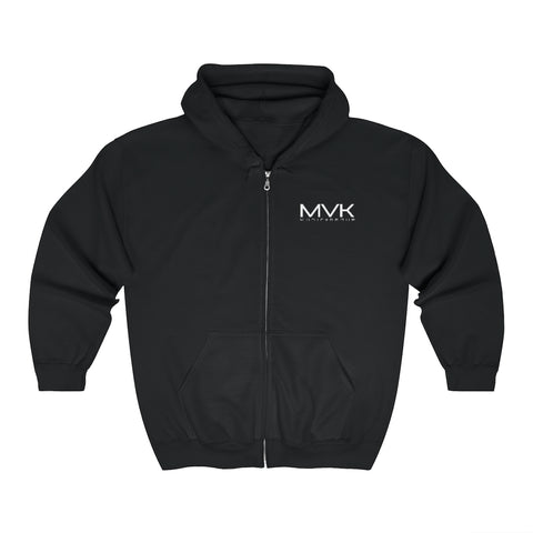 MVK Unisex Zip Up Hoodie (Embroidered Logo)
