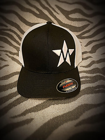 Maverick M-Star FlexFit Hat (Black/White Mesh) ***PREORDER***