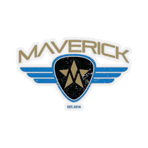 Maverick Guitar Pick Sticker