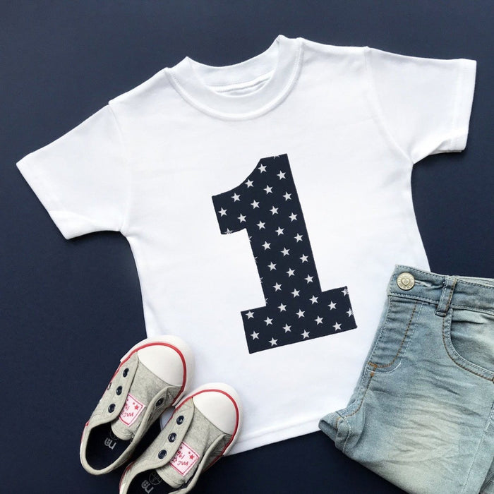 1st Birthday Shirt, Star Applique - Cotton and Bloom
