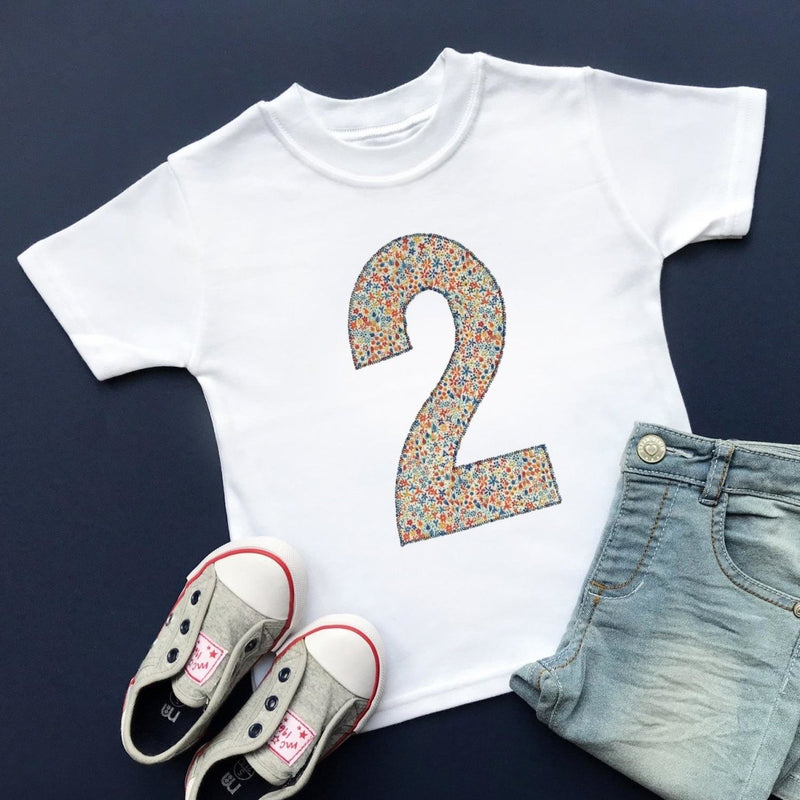 2nd Birthday Top, Liberty of London Applique