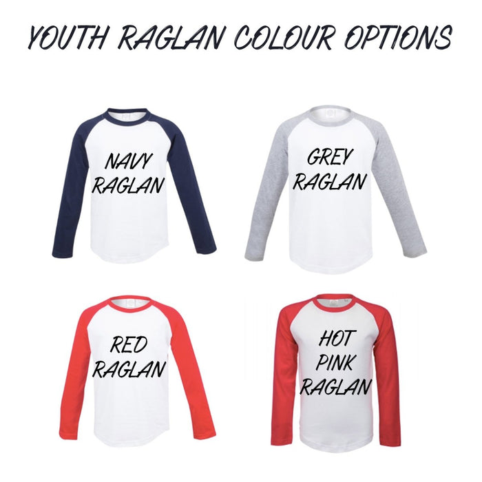 6th Birthday Raglan, Baseball Design