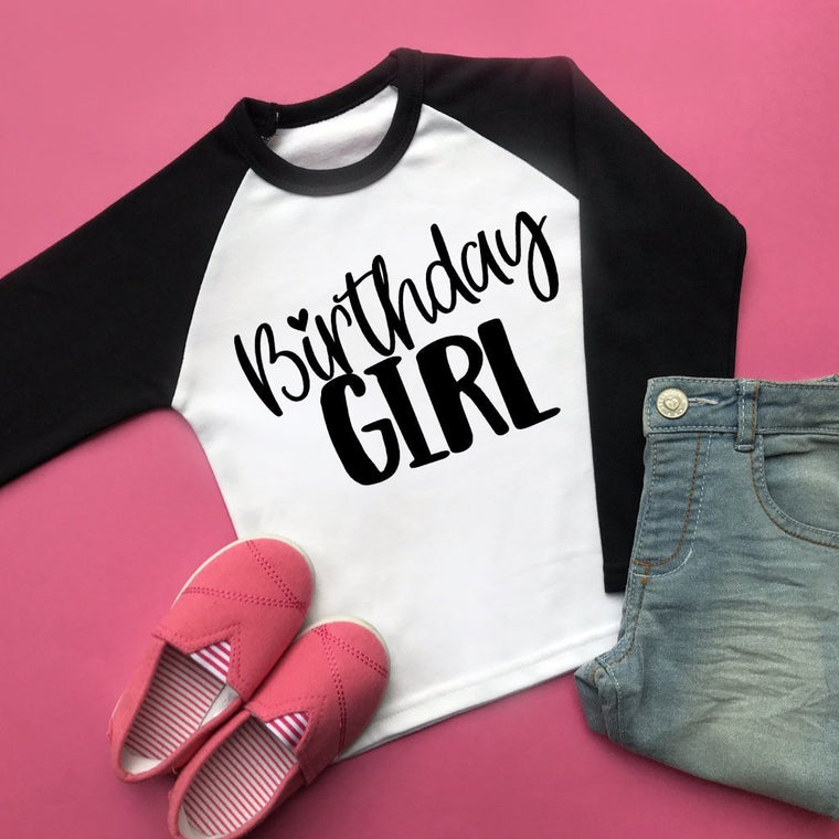 Birthday Girl Raglan