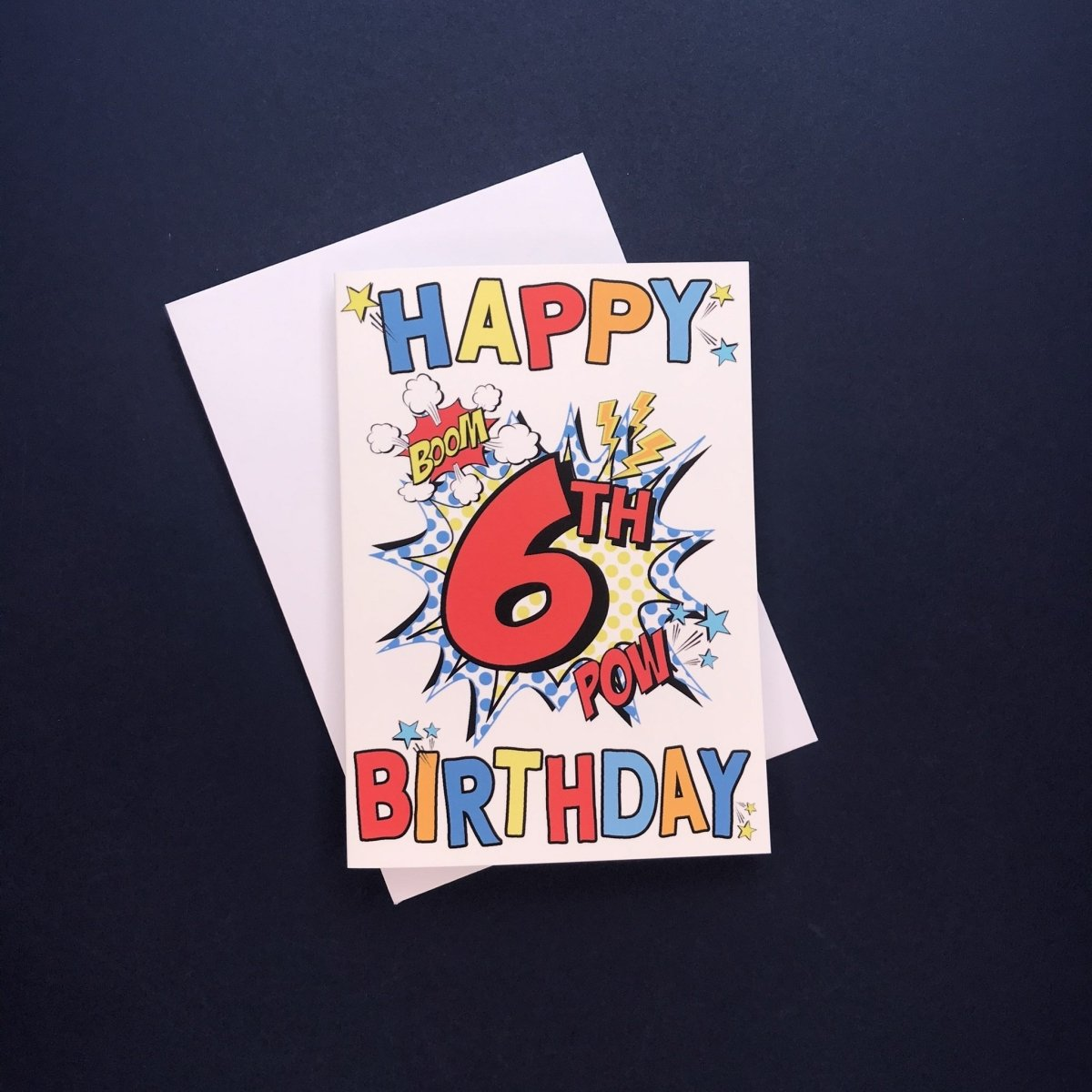 Comic 6th Birthday Card - Cotton and Bloom