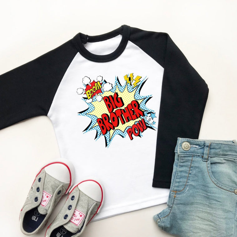 Comic Big Brother Raglan Shirt
