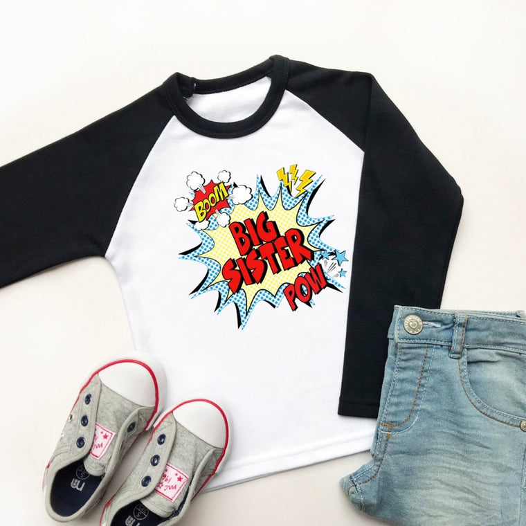 Comic Big Sister Raglan Shirt