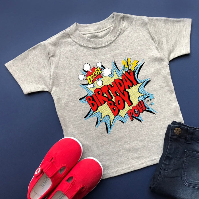 Comic Birthday Boy Shirt - Cotton and Bloom