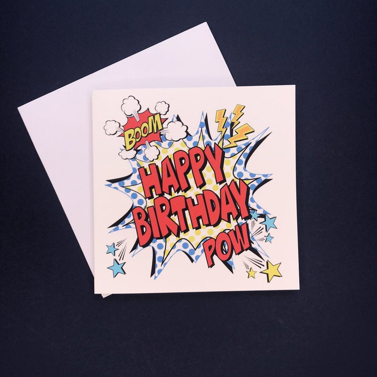 Comic Happy Birthday Card