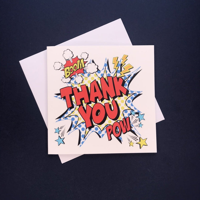 Comic Thank You Card