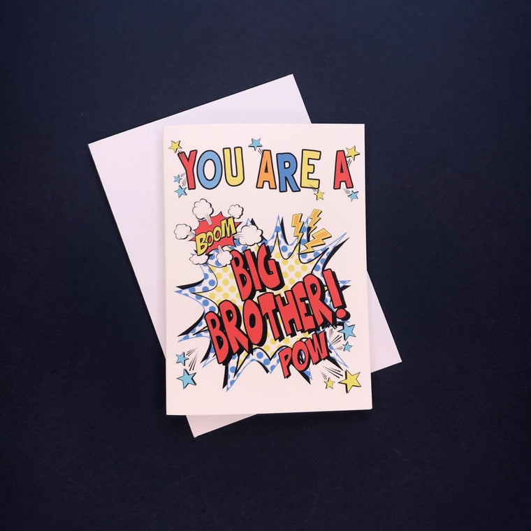 Comic You're A Big Brother Card