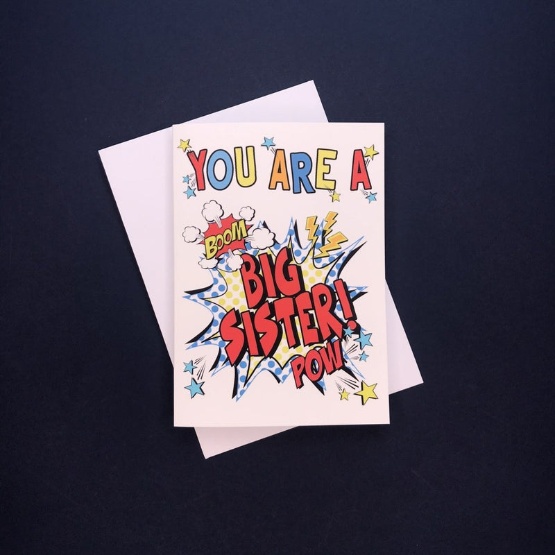 Comic You're A Big Sister Card - Cotton and Bloom