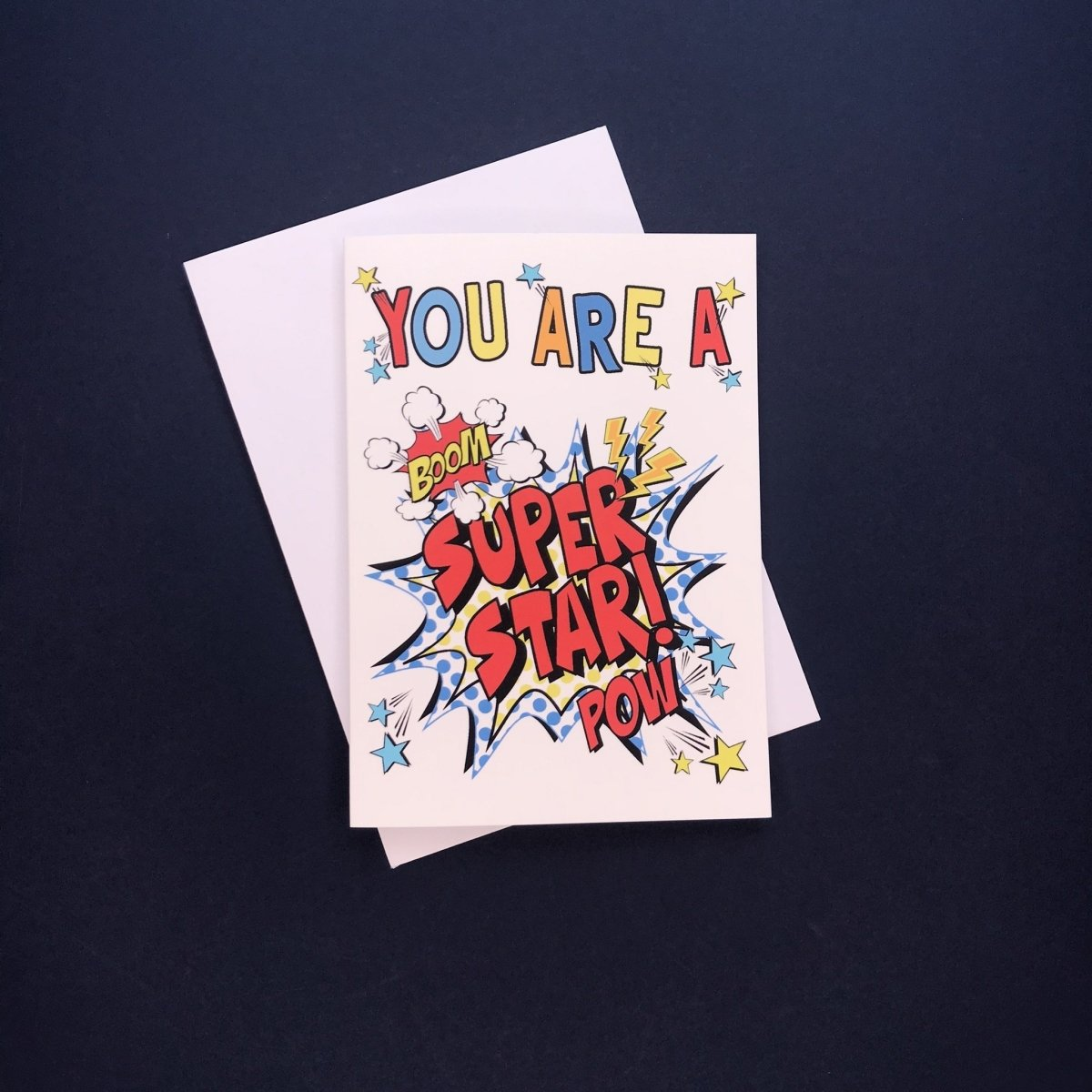 Comic You're A Super Star Card - Cotton and Bloom