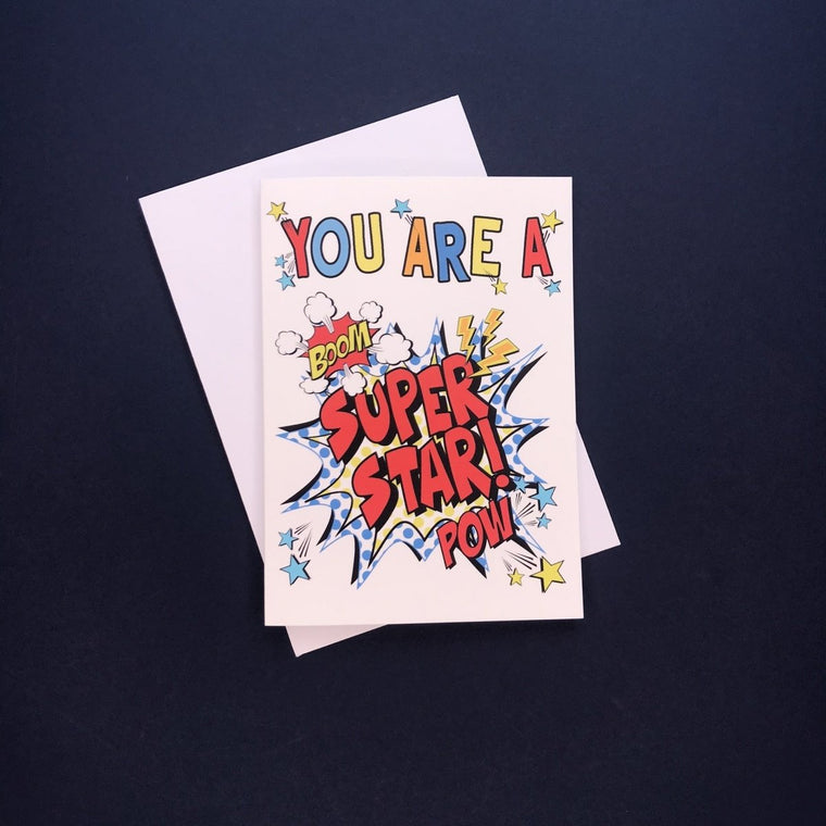 Comic You're A Super Star Card