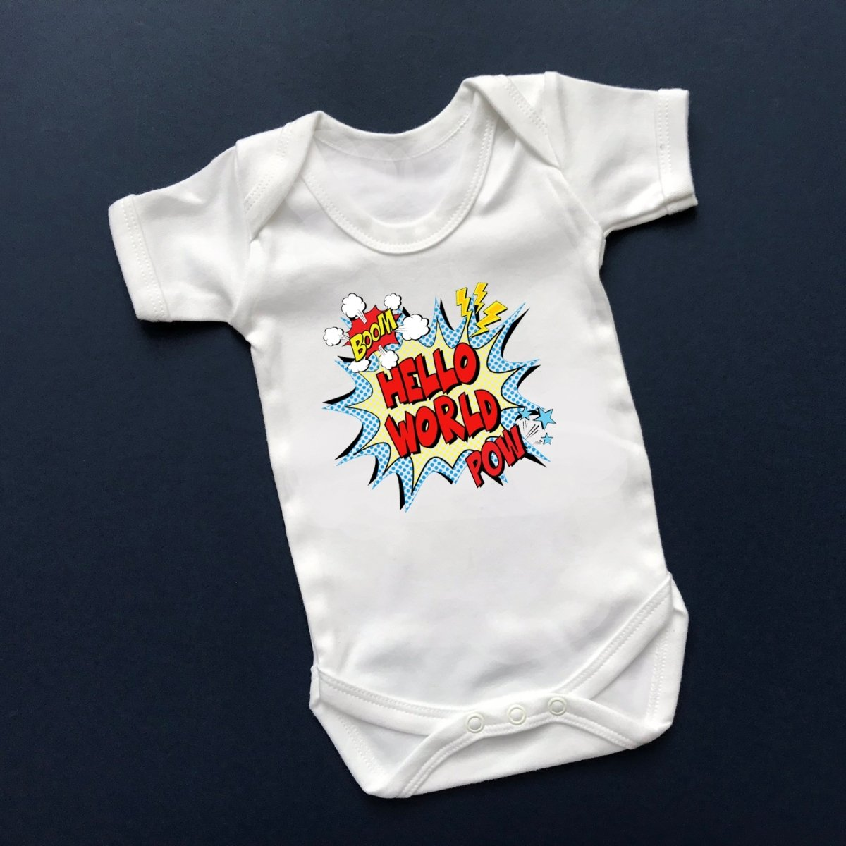 Hello World Newborn Outfit, Comic