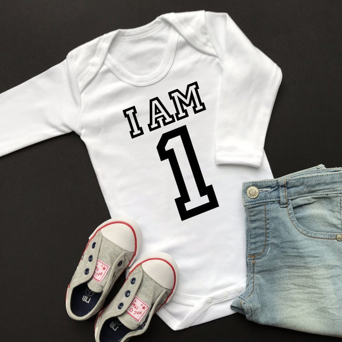 I am 1 Birthday Vest, Varsity Long Sleeve Vest Design