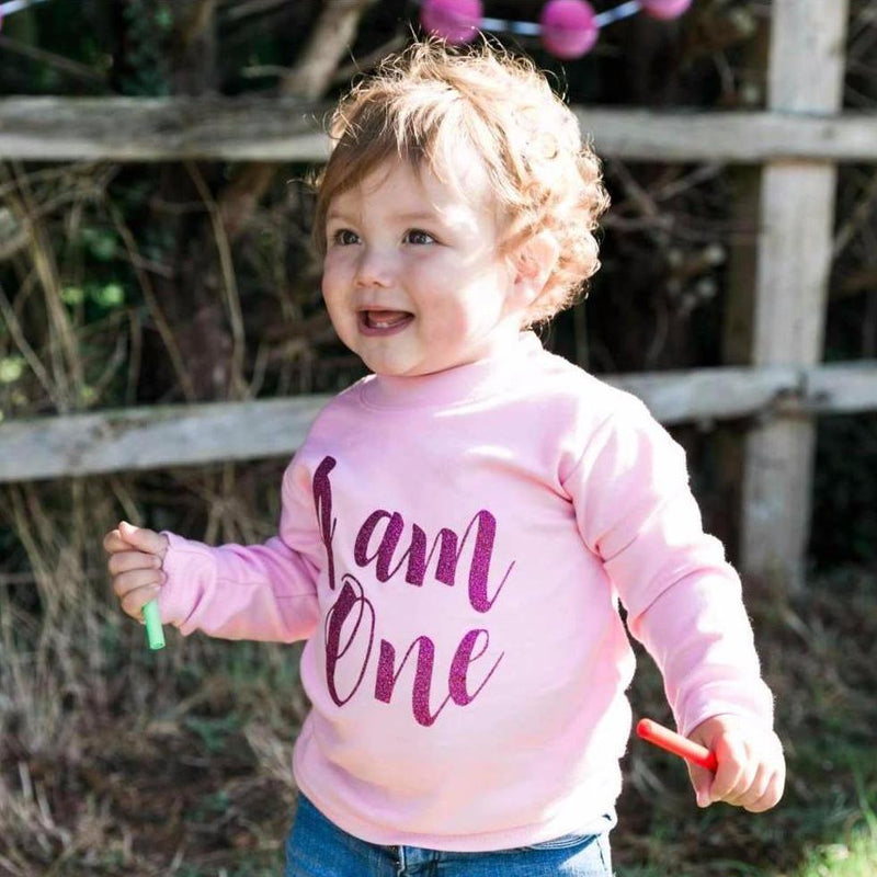 I am One 1st Birthday Top, Script Design