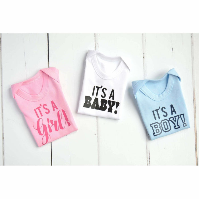 It's a Girl! It's a Boy! It's a Baby!, Gender Reveal Ideas Bodysuit - Cotton and Bloom