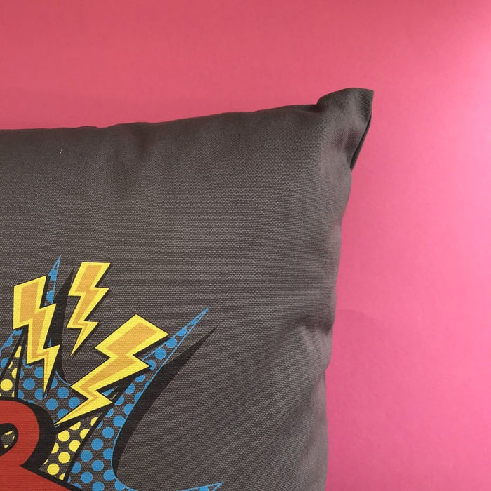 Kids Personalised Comic Cushion, Cover Only or Cushion and Insert