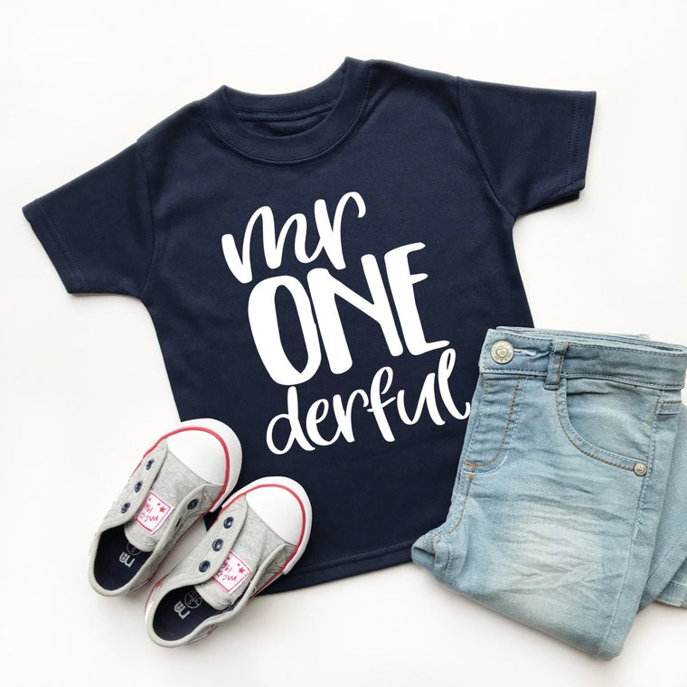 Mr Onederful T-Shirt, Boys 1st Birthday Shirt