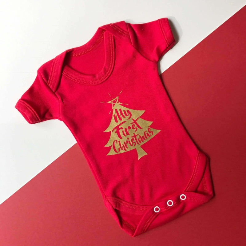 My First Christmas, Baby Vest - Cotton and Bloom