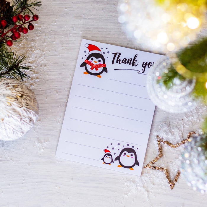 Penguin Thank You Note Pad - Cotton and Bloom
