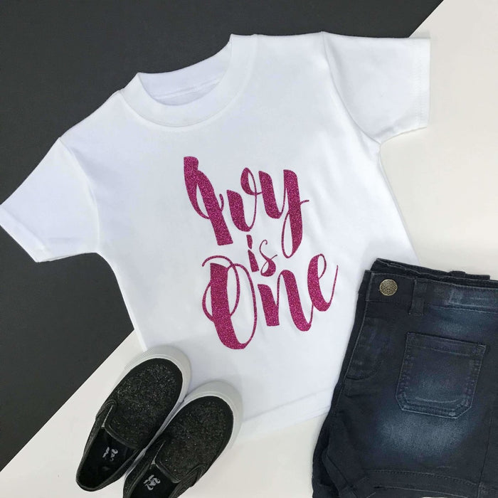 Personalised 1st Birthday Top, Script Design - Cotton and Bloom