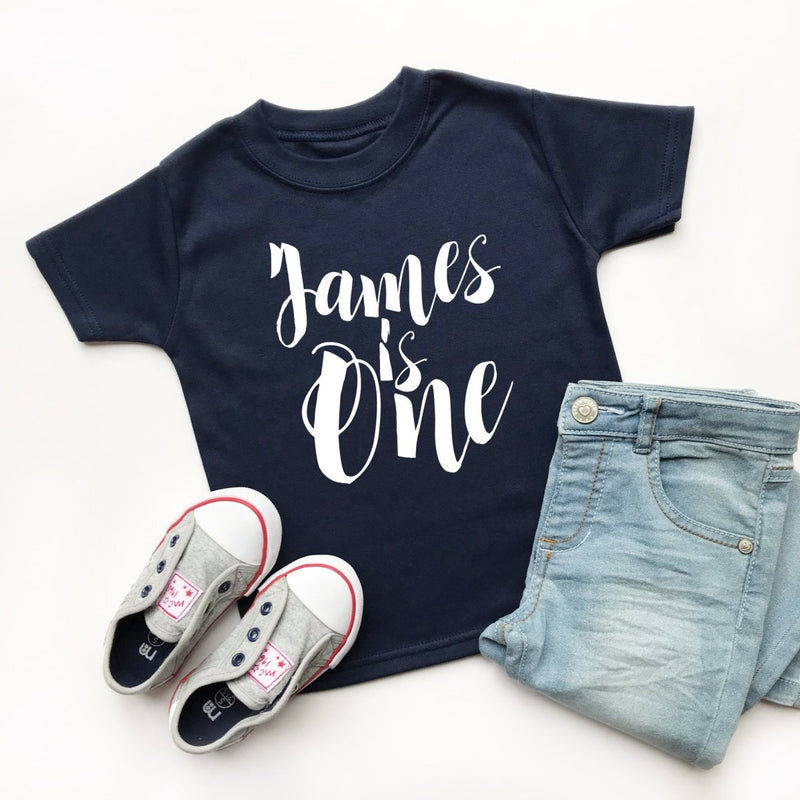 Personalised 1st Birthday TShirt, Script Design