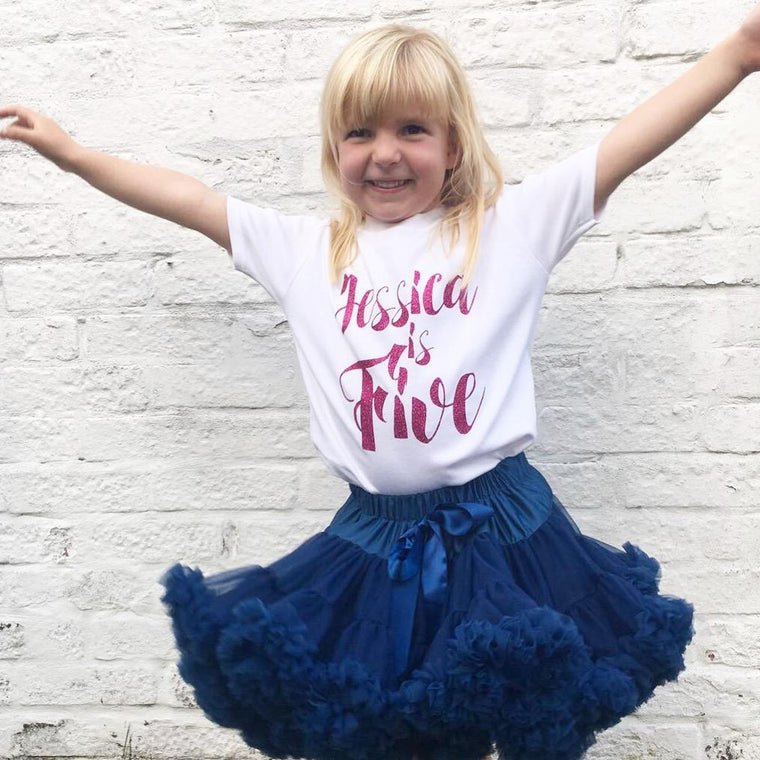 Personalised 5th Birthday Top, Script Design