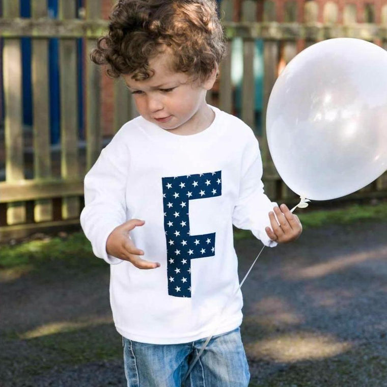Personalised Applique Top, Letter Top