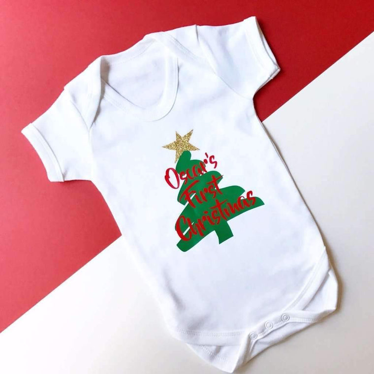 Personalised First Christmas, Baby Vest