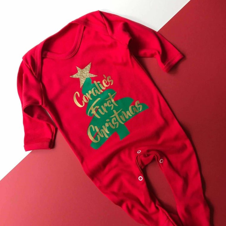 Personalised First Christmas, Romper