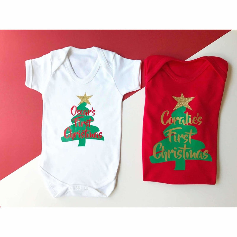 Personalised First Christmas, Romper - Cotton and Bloom