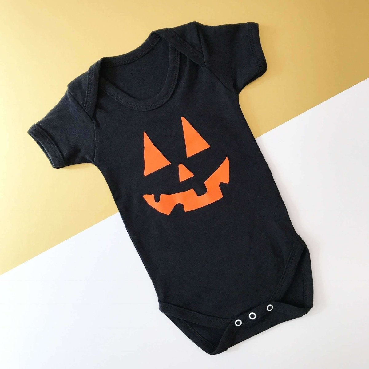 Pumpkin Face, Baby Halloween Vest - Cotton and Bloom