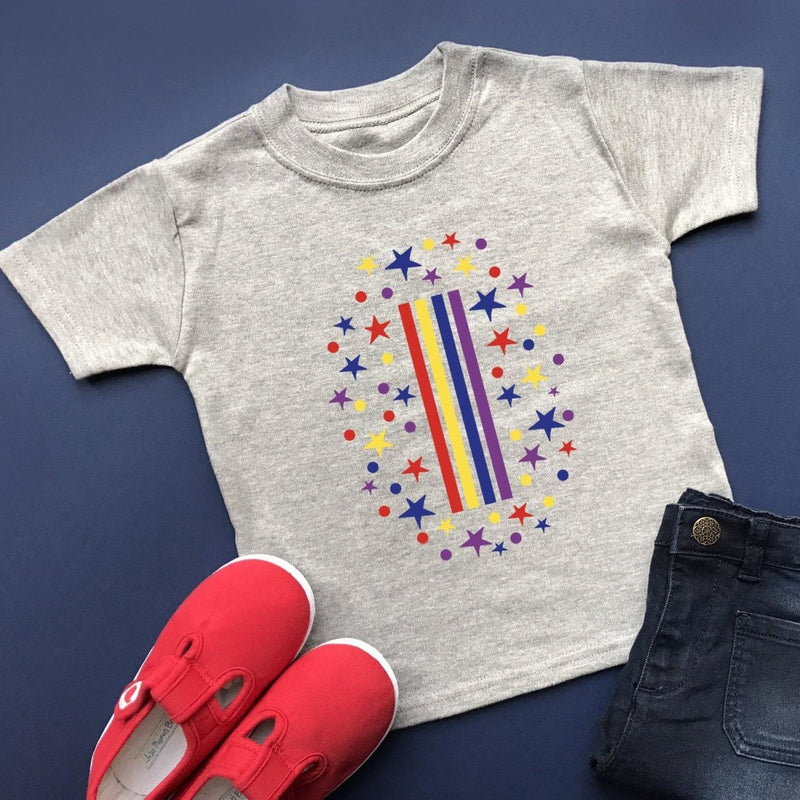 Rainbow 1st Birthday T-Shirt, Pastel or Bright - Cotton and Bloom