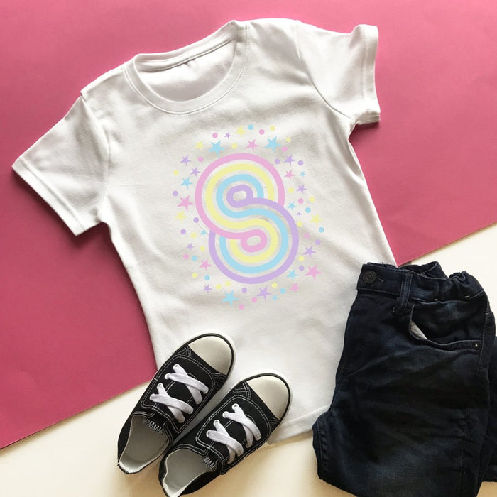 Rainbow 8th Birthday T-Shirt, Pastel or Bright - Cotton and Bloom