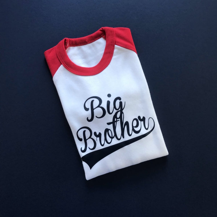 READY TO SHIP - Baseball Big Brother Raglan