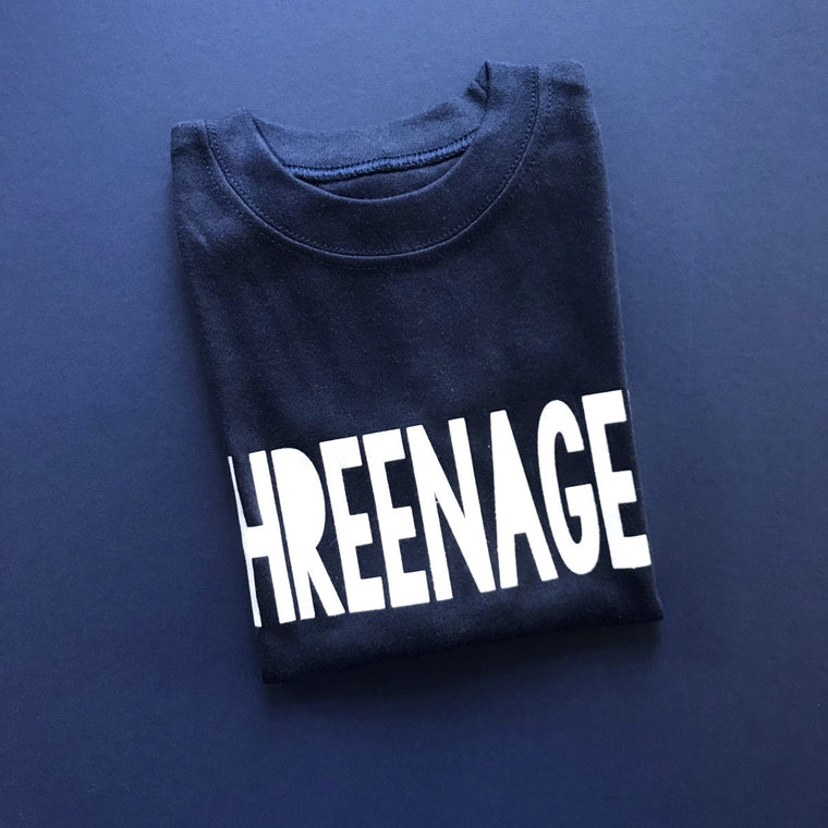 READY TO SHIP - Bold Threenager TShirt