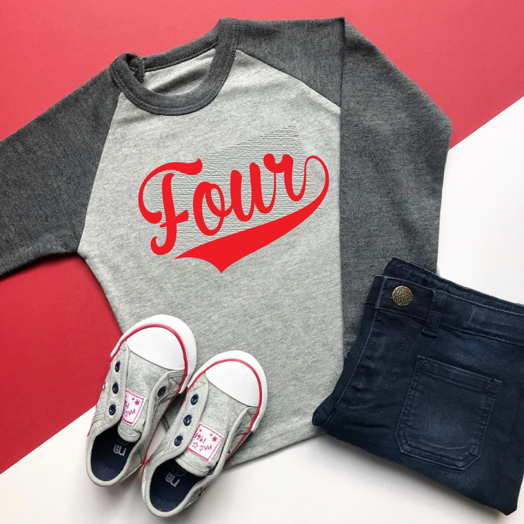 READY TO SHIP: Four Baseball Raglan