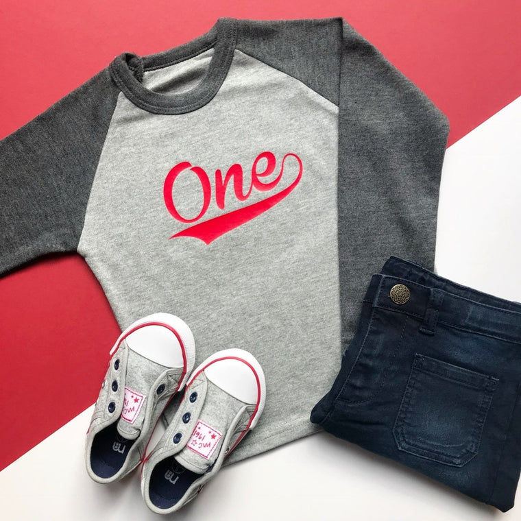 READY TO SHIP: One Baseball Raglan