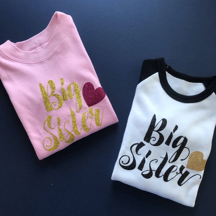 READY TO SHIP - Script Big Sister - Cotton and Bloom