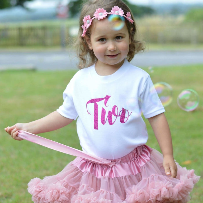 Second Birthday Top, Script Two Design - Cotton and Bloom