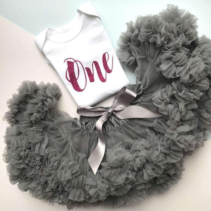 Silver Grey Tutu - Cotton and Bloom