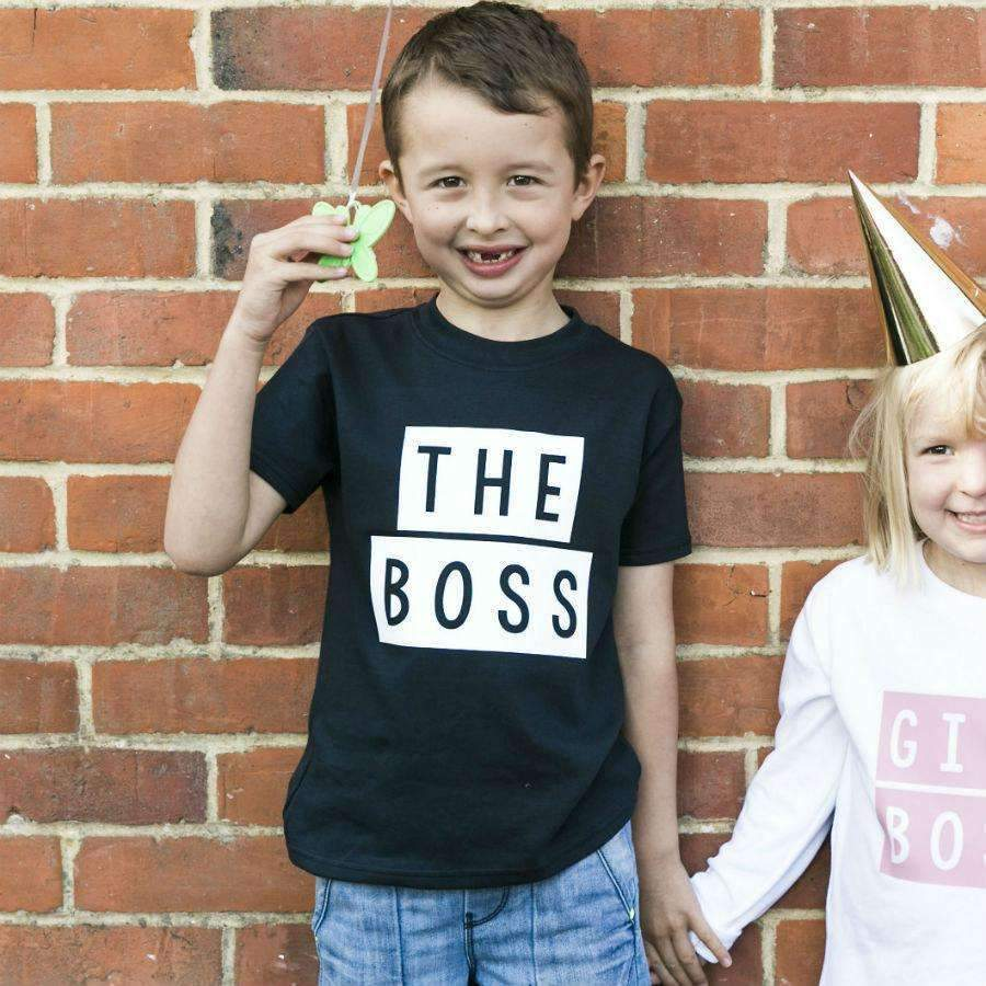 The Boss Toddler TShirt - Cotton and Bloom